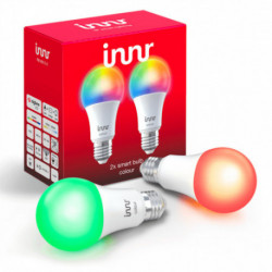 INNR - Connected bulb type E27 - ZigBee 3.0 - Pack of 2 bulbs - Multicolor RGBW + White adjustable - 2200K to 6500K