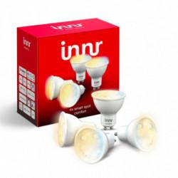 INNR - Ampoule connectée type GU10 - ZigBee 3.0 -Pack de 4 ampoules - Blanc réglable - 2200K à 5000K