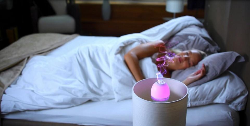 Ampoule LED connectée avec diffuseur d'huiles essentielles